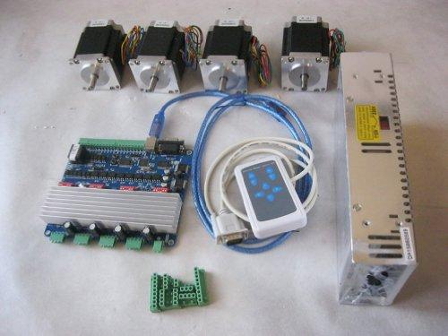 Ten high cnc kit 4 axis stepper driver tb6560 24v power for High power stepper motor