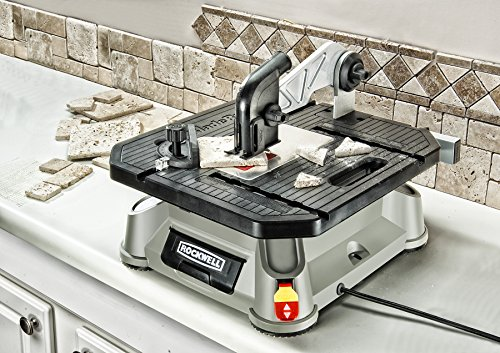 rockwell bladerunner x2 portable tabletop saw with steel rip fence miter gauge